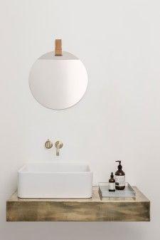 44 beste afbeeldingen van badkamer - Powder Room, Round mirrors en ...