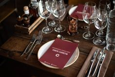 Menu designed for Winemakers Dinner arranged by Tenuta Carretta, Flaaten Wines and Dilla Holding at Cargo Restaurant & Bar, located in Oslo, Norway. Menu Design, Dinner Menu, Oslo, Restaurant Bar, Wines, Norway, Branding, Inspiration, Biblical Inspiration