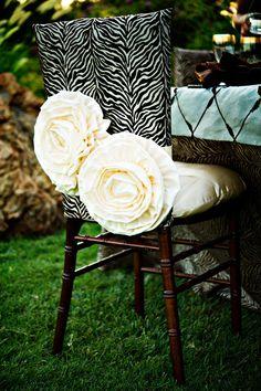 tratamientos silla rayas de cebra de impresión VETERINARIO silla blanca roseta chiavari
