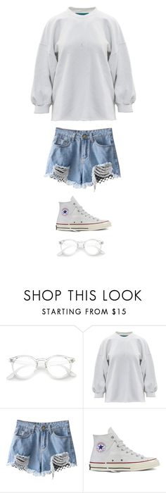 """""""Untitled #4170"""" by twerkinonmaz ❤ liked on Polyvore featuring Converse"""