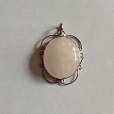 BEAUTIFUL ROSE QUARTZ PENDANT IN SILVER BEAUTIFUL ROSE QUARTZ PENDANT IN SILVER Jewelry
