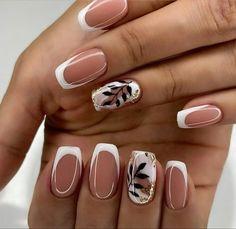 Chic Nails, Stylish Nails, Trendy Nails, Oval Nails, Pink Nails, Perfect Nails, Gorgeous Nails, Feather Nails, Nagel Hacks