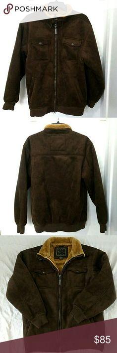 68c0b74ada0 Karl Kani Men's Suede/Fur Jacket Full Zip XL Brown Karl Kani Gold Men's  Brown