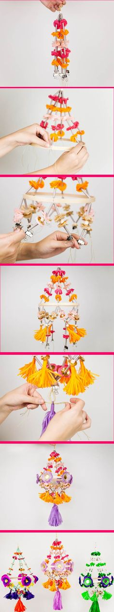 LA's @ccommunity shares their Paper Pajaki Chandelier DIY made with tools from #marthastewartcrafts