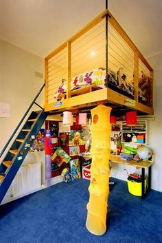 I know I would have loved this as a kid.  Its like a clubhouse in your room