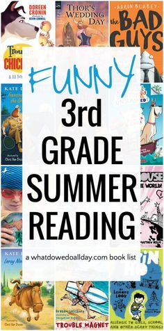 Summer reading for 3rd grade. Funny books!
