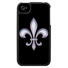 Pearl Style Fleur de Lis iPhone 4 Case