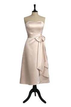style bridesmaid dress with boned bodice and long sash Dresses For Sale, Dress Sale, 1950s Fashion Dresses, Champagne Bridesmaid Dresses, Bodice, Strapless Dress, Gowns, Bridal, Formal Dresses