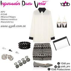 Inspiración para Vestir #YZAB Geometría en blanco y negro. Inspírate con más tendencias para 2014 en www.yzab.com.ve #YZAB #ESTETICA #Estilo #Tendencias #EstilismoEspiritual