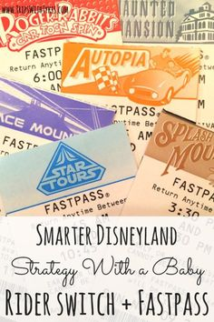 Smarter Strategy for Disneyland with a Baby: Maximizing Rider Switch and Fastpass | Did you know that Rider Switch and Fastpass can be combined at Disneyland in ways that allow you to double your thrill rides? How my family did it all, even with a baby in tow.