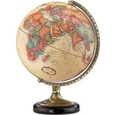 Features:  Tabletop Or Desk Globe.  Die Cast Semi Meridian.