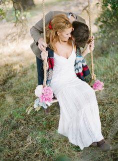 Balançoire pour mariage champetre