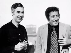 Fred Rogers and Tony Bennett...two of my favorite people. Fred Rogers, Tony Bennett, Singer, Bright, People, Singers, People Illustration, Folk