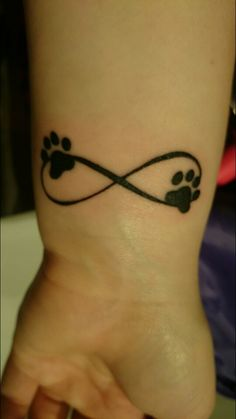 Infinity and Paw Print Tattoo
