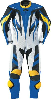 $299.00 - Blue and Yellow Motorbike Leather Suit