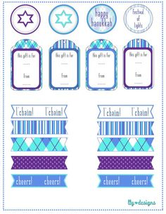 "free hanukkah printables that say ""l'chaim"""