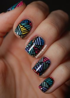 These nails are so cute and colorful...
