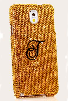Royal Gold Personalized Monogram Design Samsung Galaxy Note 3 case phone cover vintage lifeproof DIY for teens