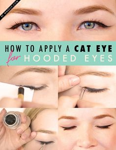 How to apply a cat eye for hooded eyes // #makeup #wingedeyeliner