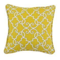 Woburn Sunflower Self Backed Corded Cotton Throw Pillow