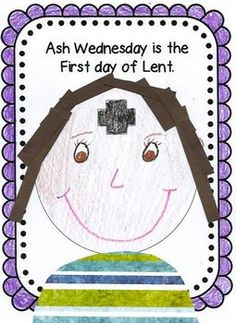 Faith Filled Freebies: Ash Wednesday Craft to mark the opening of Lent. Catholic Crafts, Catholic Kids, Church Crafts, Religion Activities, Teaching Religion, Catholic Religion, Catholic Schools Week, Bible Crafts, Faith Crafts