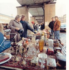 Rommelmarkt aan de Binnenrotte.