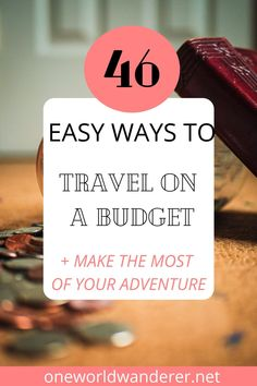 So you're planning on travelling on a budget? Here are my 46 easy ways to travel on a budget today! Travel the world, save money, and make the most of your travels so you can travel more, with the best hacks for cheap food, finding cheap flights and accommodation and saving money on your next adventure. #traveltips #trackhacks #budgettravel #cheaptravel Ways To Travel, Best Places To Travel, Travel Hacks, Budget Travel, Travel Tips, Make More Money, Ways To Save Money, Cheap Food, Find Cheap Flights