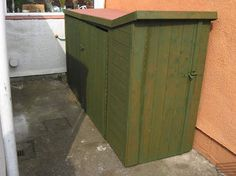small sheds for bikes for front garden Storage Building Kits, Bike Storage Systems, Building A Shed, Shed Storage, Storage Ideas, Motorbike Shed, Motorcycle Garage, Outdoor Bike Storage, Bicycle Storage