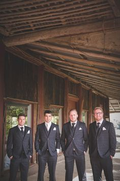 Congratulations CHRIS & ABBEY! What an amazing DIY wedding, all your hard work has certainly paid off! Chris and his groomsmen are dressed in a three piece Daniel Hetcher suit from Ferrari Formalwear & Bridal. Real Wedding | Bride and Groom