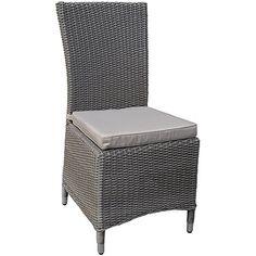 Ascot Ash Half-Round Weave Rattan Outdoor All Weather Rattan Garden Dining Chair