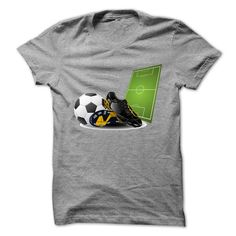 Football shoes and ball in court T-Shirts, Hoodies, Sweaters