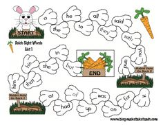 Bunny Hop Sight Word Game Boards | Make, Take & Teach