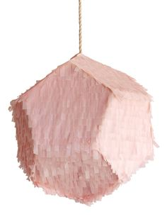 Meteorite Pinata - Tissue paper & Cotton cord, 20 inches diameter. Filled with our handmade confetti - includes hinged door for additional fillings. Custom colors are available, please contact us.  All pieces are handmade in NYC upon order and usually take about 2-3 weeks to complete. (150.00)