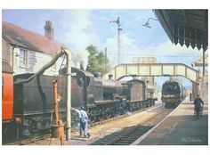 Somerset and Dorset Railway Evercreech Philip D. Transport Pictures, Disused Stations, Steam Railway, Train Art, Steam Engine, Steam Locomotive, Somerset, Great Britain, Transportation