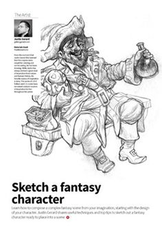 Design and sketch a character from your imagination with Justin Gerard http://www.2dartistmag.com/latest.html