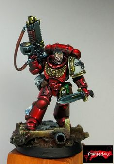 The Internet's largest gallery of painted miniatures, with a large repository of how-to articles on miniature painting Warhammer Paint, Warhammer 40k Art, Warhammer Models, Warhammer 40k Miniatures, Salamanders 40k, Optimus Prime Toy, Warhammer 40k Blood Angels, Miniaturas Warhammer 40k, Deathwatch