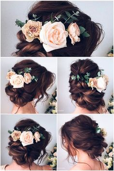 wedding hair hair accessories hair medium length updo hair jewellry hair and makeup near me hair styles for shoulder length hair hair styles for medium hair hair vine Wedding Hairstyles For Long Hair, Wedding Hair And Makeup, Pretty Hairstyles, Hair Makeup, Hair Wedding, Vintage Hairstyles, Wedding Veils, Wedding Flowers, Sweet Hairstyles