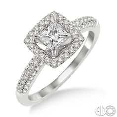 We can't get enough of the princess-cut!  Style #: 19011FVWG-LE #Ashi #diamonds #engagement #janesjewelers