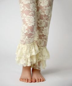 Love this Lemon Lace Leggings - Infant, Toddler & Girls by Lollies and Lace Boutique on #zulily! #zulilyfinds