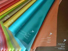 Unser neues Analysetuch-Set warm-kalt, hier: 11 Tücher zu den warmen Farben.