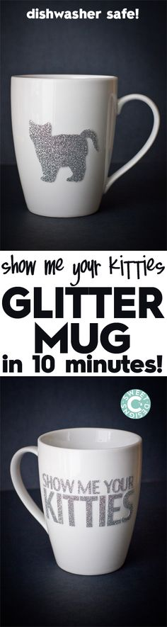 Dishwasher Safe Easy Glitter Mug