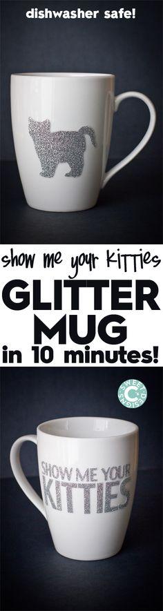 Dishwasher Safe Easy Glitter Mug