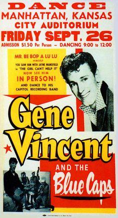 Classic Gene Vincent & The Blue Caps Concert Poster