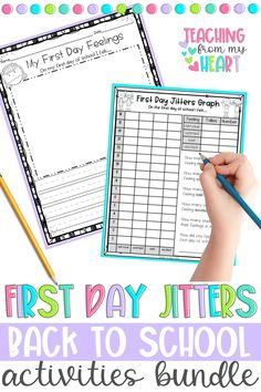 Three must-have Back to School activities for grades 1-4. This bundle includes First Day Jitters, David Goes to School, and Beginning of the Year Poems and Activities. PLUS a bonus file (Whole Body Listening and Give me Five Packet). Aligned to Common Core standards and differentiated, this bundle can also be used for distance learning. #BacktoSchool #DistanceLearningActivities Kindergarten Writing Activities, Back To School Activities, Writing Resources, Learning Activities, School Resources, Classroom Activities, Literacy, Back To School Poem, Back To School Night