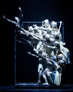 The space to make beautifully lit dynamic pictures with the actors' bodies. This whole show is about bodies and liberty. Rodin by Eifman Ballet.