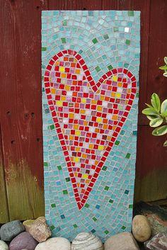 Bright heart mosaic