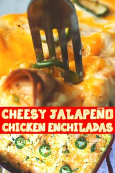Mexican Dishes, Mexican Food Recipes, Real Food Recipes, Dinner Recipes, Cooking Recipes, Yummy Chicken Recipes, Enchilada Recipes, Chicken Enchiladas, Food Dishes