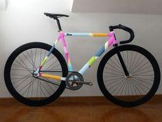 Multicolor Fixie | #fixie #FixedGear