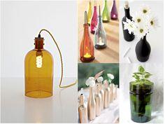 Hoy te traemos 6 ideas geniales para saber cómo reciclar botellas de vidrio o cristal. Una forma barata, divertida y ecológica de redecorar. ¡Fuera excusas!