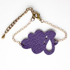 Purple little cloud leather bracelet by PreskSolen on Etsy, €10.00